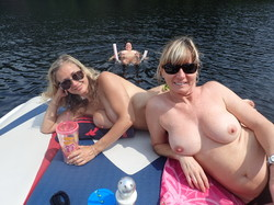 Wife naked on friends boat