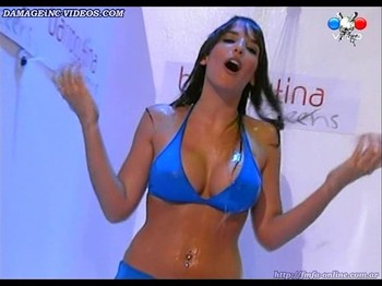 Sofia Menconi big wet tits in bikini model
