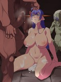AIR HIKE - RAPE GIRLS VARIOUS KINDS OF MONSTERS GOBLINS ORCS AND GIANT WASPS