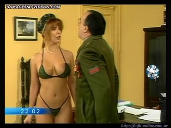 Alejandra Mora hot body in army bikini