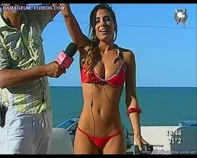 Cinthia Fernandez hot body in red bikini