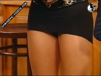 Maria Eugenia Rito upskirt on live TV