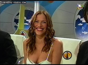 Connie Ansaldi hot cleavage on TV