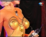 María Eugenia Rito big boobs bodypaint and nipples poking