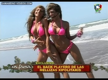 Xipolitakis sisters bikini by the sea