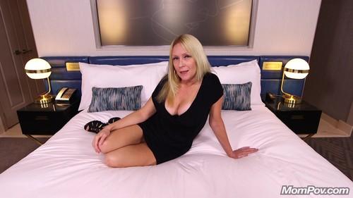 Mompov.com -  Adria Gorgeous blonde MILF first timer