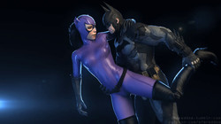 Animated Gif Porn Artwork with Overwatch Dva Harley Quinn Lara Croft Catwoman and others by RedDoe