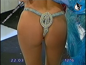 Graciela Alfano hot ass in thong