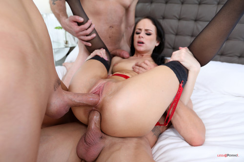 LegalPorno.com - Kylie Martin is just 3 Months in and already taking 3 dicks getting all her holes filled.....taking anal like a pro! AA007