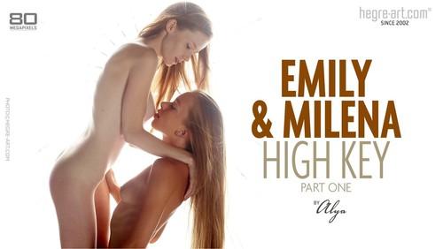 Milena emily and alya by high key