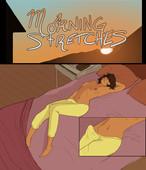 Autofellatio in comic - PrettySinny - Morning Stretches
