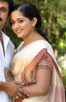 kavya madhavan sexy saree